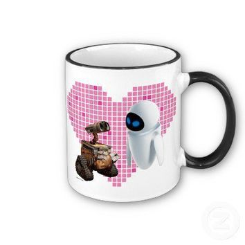 Wall*e's Wall*e and Eve Pixel Heart Disney Mug from Zazzle.com