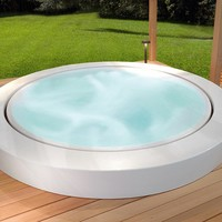 WHIRLPOOL BUILT-IN BATHTUB MINIPOOL OUTDOOR COLLECTION DESIGN BY LUDOVICA+ROBERTO PALOMBA | KOS BY ZUCCHETTI