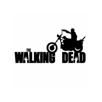 The Walking Dead Daryl on Motorcycle Silhouette window vinyl decal sticker
