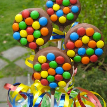 M&M Chocolate Covered Oreos, Spring Chocolate Covered Oreos,  Candy, Party Favors