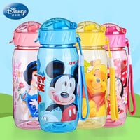 Disney Straw Water Bottle children Glass Water bouteille plastique water pitcher Bottles water kettle dinkware glass BPA free