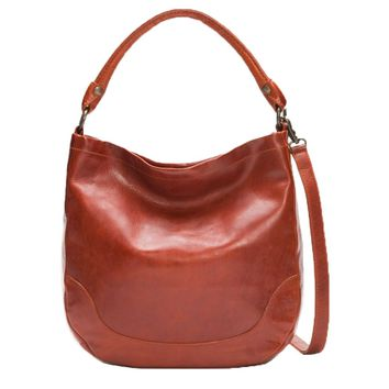 Frye Melissa Hobo Bag Red Clay DB149