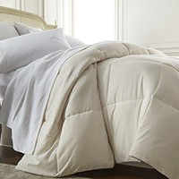 ienjoy Home Collection, Ultra Plush Premium Down Comforter, Queen/Full, Ivory