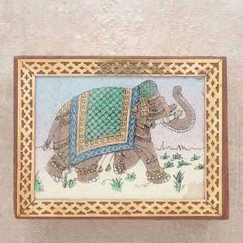 Royal Elephant Gemstone Box