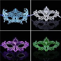 DKF4S Sexy PVC Hollow Mask Color Painted Upper Half Face Dance Masquerade Party Night Club Queen Female Halloween Woman Masks 3 Style