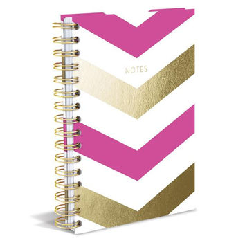 Pink Chevron Hard Cover Journal