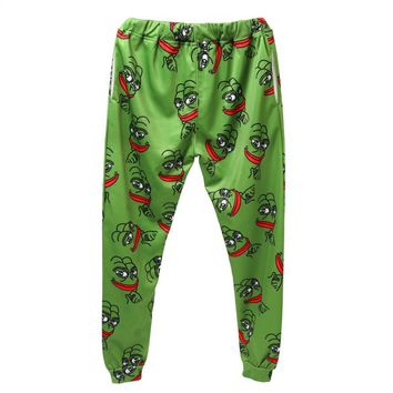 Pepe Frog Joggers Pants Unisex Funny all Over Print