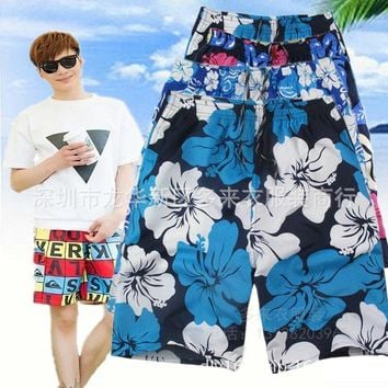 Summer big yard men's men's beach pants camouflage pants sports shorts Beach shorts Bathing trunks swim shorts swimming trunks
