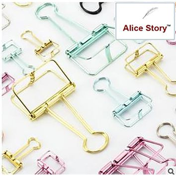 Colorful metal paper clips accessories folder for planner notebook journal diary