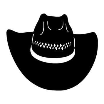 Western Rodeo Cowboy Hat Car Stickers