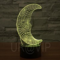 Moon Magical 3D Optical Illusion LED Table Lamp Lighting JC-2864