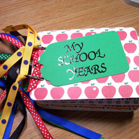My School Years Mini Album Chipboard Scrapbook