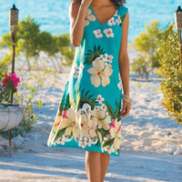 Tropicana Dress - Tropical Print Dress, V-neck Dress, Light Summer Dress | Soft Surroundings