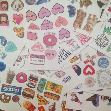 1000+ mystery stickers, random stickers with tumblr, indi, hippie, emoji, music stickers / lucky dip / laptop sticker / phone sticker