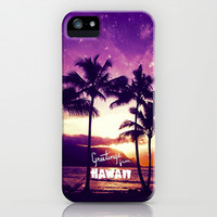 Greetings from Hawaii - for iphone iPhone & iPod Case by Simone Morana Cyla