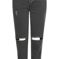 MOTO Washed Black Ripped Hayden Jeans - Jeans - Clothing