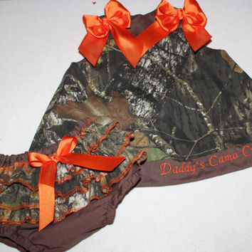 Camo Dress with Ruffled Bloomers