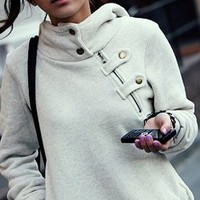 GREY FASHION SWEATER FOR GIRLS