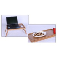 Bed Tray Breakfast Tray with Folding Legs Bamboo