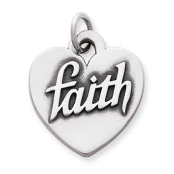 "Heart of ""Faith"" Charm 