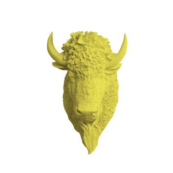 The Yellowstone | Large Buffalo Bison Head | Faux Taxidermy | Yellow Resin