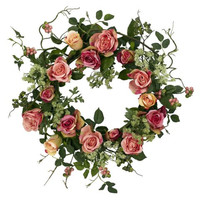 Rose Wreath Home Decor 20 Inch