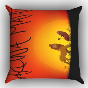 lion king hakuna matata X1249 Zippered Pillows  Covers 16x16, 18x18, 20x20 Inches