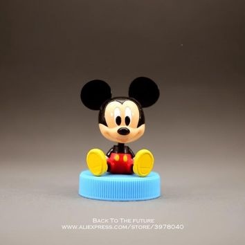 Disney Mickey Mouse 8.5cm sitting posture Action Figure Posture Anime Decoration Collection Figurine Toy model children gift
