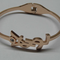 YSL hot Titanium steel plated rose gold bracelet with bracelet bone