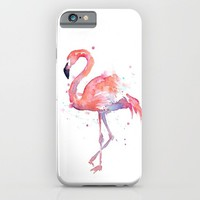 Flamingo Watercolor iPhone & iPod Case by Olechka | Society6