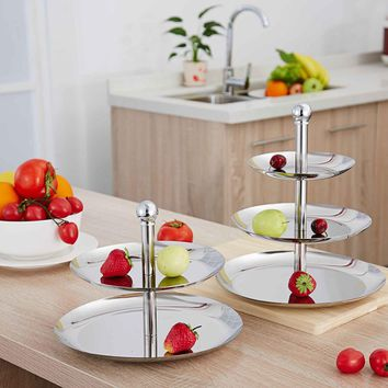 Stainless Steel Fruit Plates Stand and Pastry Tray