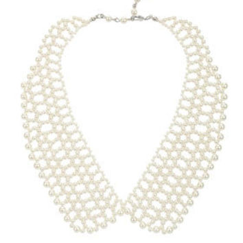 Pearl Collar Necklace - Necklaces - Jewellery  - Accessories