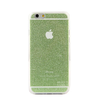 GREEN GLITTER IPHONE CASE
