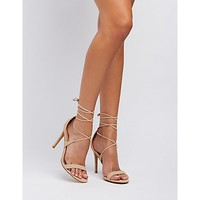 Strappy Ankle Wrap Dress Sandals | Charlotte Russe