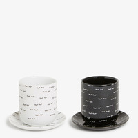 Monki | View all | 2-pack cup and saucer set