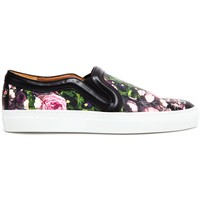 Givenchy Floral Printed Leather Skater Shoes