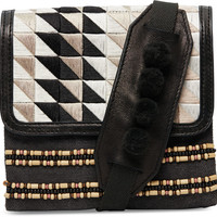 TOMS Black Triangle Embroidered Abroad Crossbody