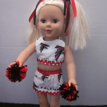 "American Girl 18"" Doll Atlanta Falcons Dirty Birds Cheer Outfit By Sweetpeas Bows & More"