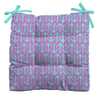 Allyson Johnson Purple Anchors Outdoor Seat Cushion