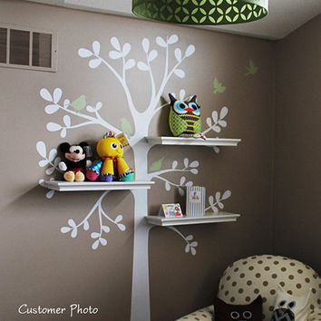 Wall Decals Baby Nursery Decor Shelving Tree Decal by SimpleShapes