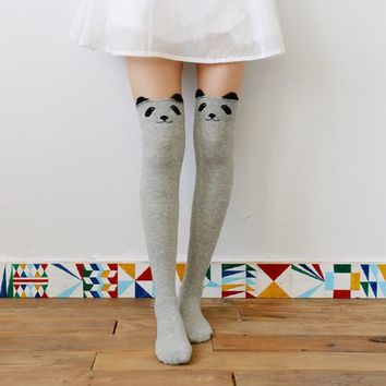 Autumn Winter Thigh High Stockings Women Female Compression Stocking Cat Dog High Knee Socks Fashion Knitted Boot socks NQ934144