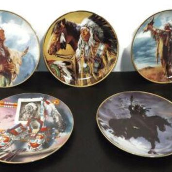 Vintage LOT Of 5 Native American Collectors Limited Editions Plates Plate
