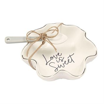 """""""Love Is Sweet"""" Candy Dish Set by Mudpie"""