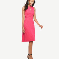 Split Neck Flare Dress | Ann Taylor