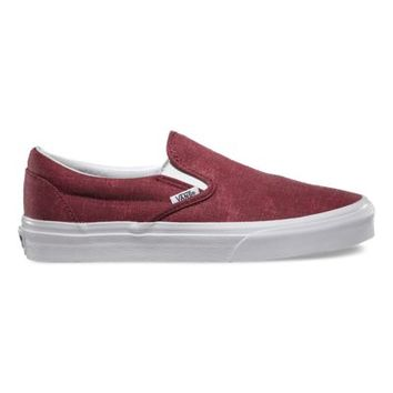 Vans Washed Slip-On (pomegranate)