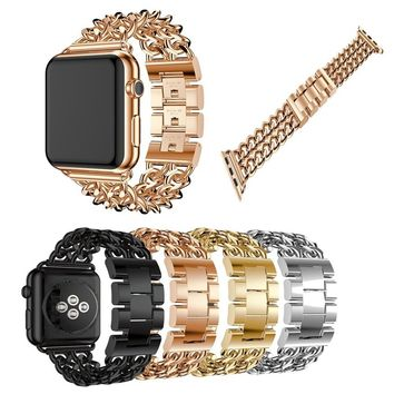 For Apple Watch Band Stainless Steel Watch Band Replacement Strap for Both Apple Watch 38MM 42MM