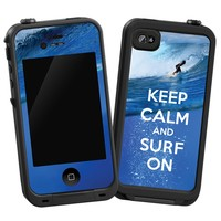 """Keep Calm and Surf On """"Protective Decal Skin"""" for LifeProof iPhone 4/4s Case"""