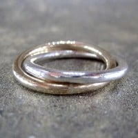 Infinity Ring  Intertwined Rolling Rings  Wide by ASecondTime