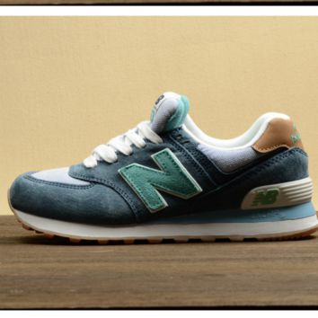 New balance Leisure shoes running shoes men's shoes for women's shoes couples N word Green