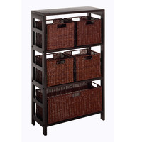 Leo 6 Piece Shelf & Baskets